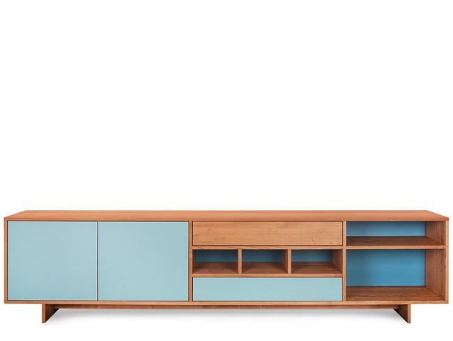 reseda m bel sideboards tre due mit farbiger r ckwand. Black Bedroom Furniture Sets. Home Design Ideas